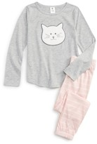 Tucker + Tate Toddler Girl's Applique Fitted Two-Piece Pajamas