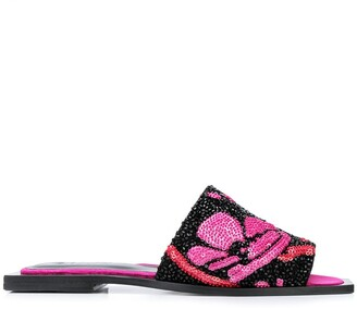 Ganni embroidered square-toed sandals