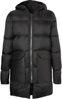Rick Owens - Leather-trimmed Quilted Shell Down Jacket