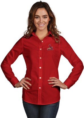 Antigua Women's St. Louis Cardinals Dynasty Button-Down Shirt