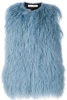 Oscar de la Renta shearling sleeveless jacket - women - Silk/Lamb Fur - S