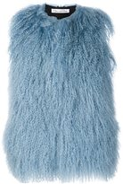 Oscar de la Renta shearling sleeveless jacket