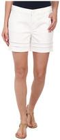 DKNY Ladder Lace Denim Moto Shorts in White