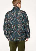 Paul Smith Men's Black 'Earth Floral' Print Down Jacket