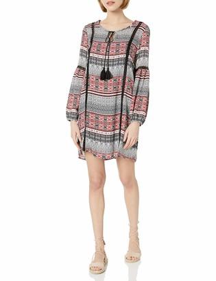 Jack by BB Dakota Junior's Colbie tapastry Stripe Dress with Contrast Tape Trim