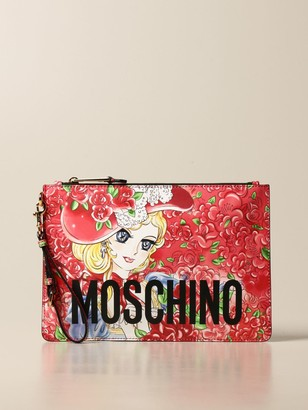 Moschino Leather Bag With Anime Print