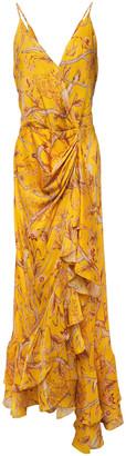 Johanna Ortiz Milagro De Miel Wrap-effect Floral-print Silk Crepe De Chine Maxi Dress