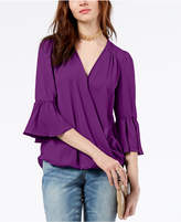 INC International Concepts I.n.c. Surplice-Neck Bell-Sleeve Blouse, Created for Macy's
