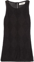 L'Agence Leah Beaded Crepe Top