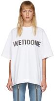 we11done White Metal Logo T-Shirt