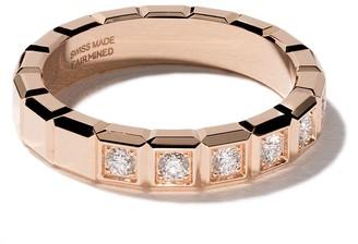 Chopard 18kt rose gold Ice Cube diamond ring