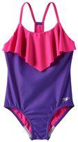 Speedo Girls 7-16 Ruffle One-Piece Swimsuit