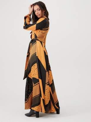Very Spliced Spot Wrap Maxi Dress - Spot
