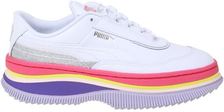 Puma Deva 90s Pop Sneakers In White Leather