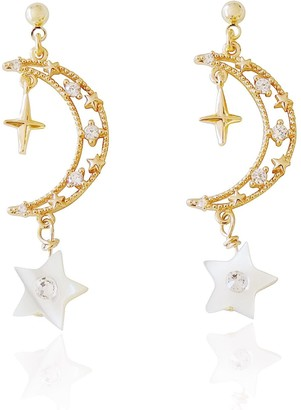 Valerie Chic Ariel Moon Star Earrings