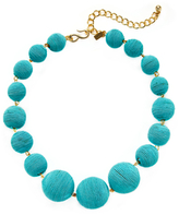 Kenneth Jay Lane Thread Wrapped Ball Statement Necklace