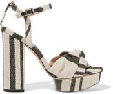Loeffler Randall Arbella twist-front canvas sandals