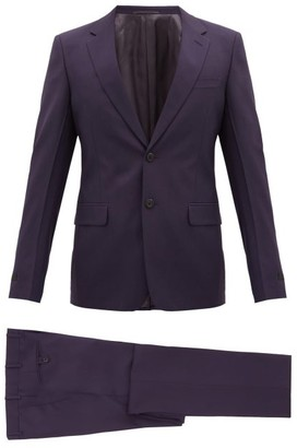 Prada Tela Notch-lapel Wool-blend Suit - Dark Purple