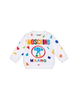 Moschino Magnets Sweatshirt Unisex White Size 3/6m It