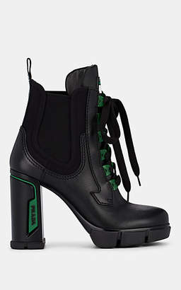 Prada Women's Leather & Neoprene Ankle Boots - Nero