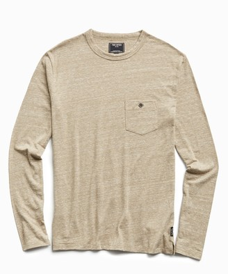 Todd Snyder Long Sleeve Heather Tee in Dark Driftwood