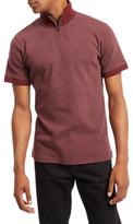 Jaeger High Neck Polo Shirt, Merlot