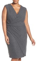 Tart Plus Size Women's 'Analyse' Faux Wrap Sheath Dress