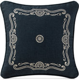 "Waterford Sinclair Indigo 14"" Square Deocrative Pillow"