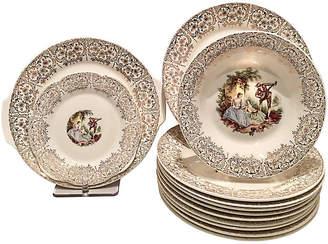 One Kings Lane Vintage American Limoge Dinnerware Set of 13 - Jacki Mallick Designs