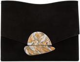 Proenza Schouler Black Suede Small Curl Clutch