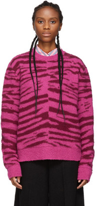 Marc Jacobs Pink Wool Grunge Tiger Sweater