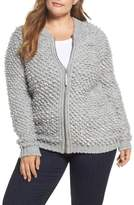 Lucky Brand Plus Size Women's Sweater Bomber
