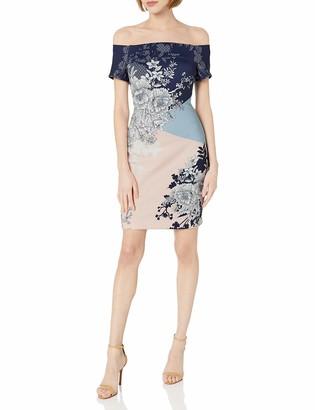 GUESS Women's Multi Printed Scuba Dress 8