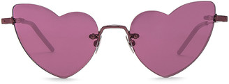 Saint Laurent Loulou Sunglasses in Pink | FWRD