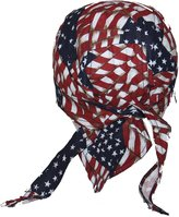 Genuine Texas Brand Tossed American Flag USA Skull Cap Head Wrap Biker Bandana DO-RAG DOO RAG DU RAG