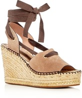 Bettye Muller Christina Lace Up Espadrille Platform Wedge Sandals