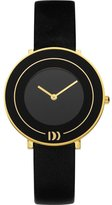 Danish Design Women's 34mm Black Leather Band Steel Case Quartz Dial Analog Watch IV11Q921