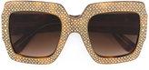 Gucci oversize crystal square sunglasses