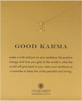 Dogeared Good Karma, Sterling Happy Lotus Necklace, 16""