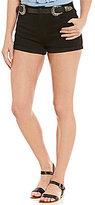 GB Western Belted Denim Shorts