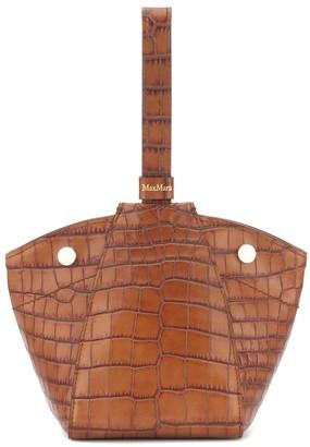 Max Mara Anita Mini croc-effect leather tote