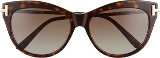 Tom Ford Kira 56mm Polarized Cat Eye Sunglasses