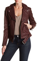 BCBGMAXAZRIA Miley Belted Genuine Leather Jacket