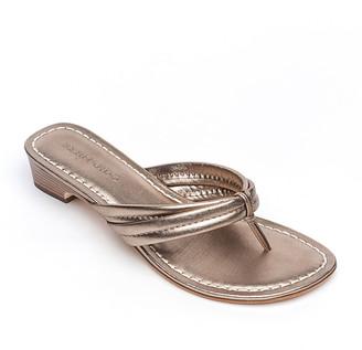 Bernardo Miami Metallic Thong Sandals, Gray