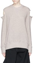 Bassike Cold shoulder French terry sweatshirt