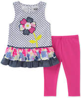 Kids Headquarters 2-Pc. Ruffle-Trim Tunic & Leggings Set, Little Girls