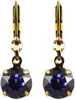 Liz Palacios Antique Gold Plated Swarovski Crystal Round Dangle Earrings