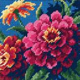 Dimensions Needlecrafts Needlepoint, Zinnias