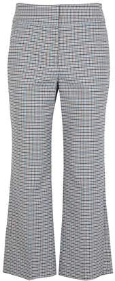 Veronica Beard Cormac Checked Brushed-twill Trousers
