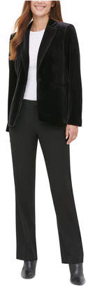 Calvin Klein Velvet One-Button Blazer